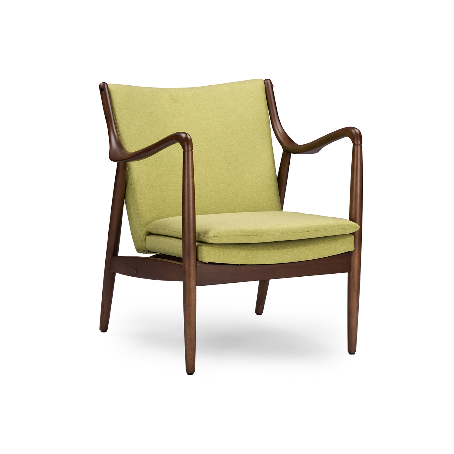 Green Upholstered Chair Baxton Studio Shakespeare Mid Century Modern Retro Green Fabric