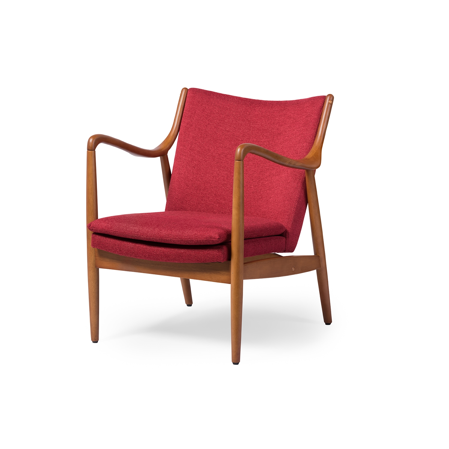 Retro Accent Chairs Baxton Studio Shakespeare Mid Century Modern Retro Red
