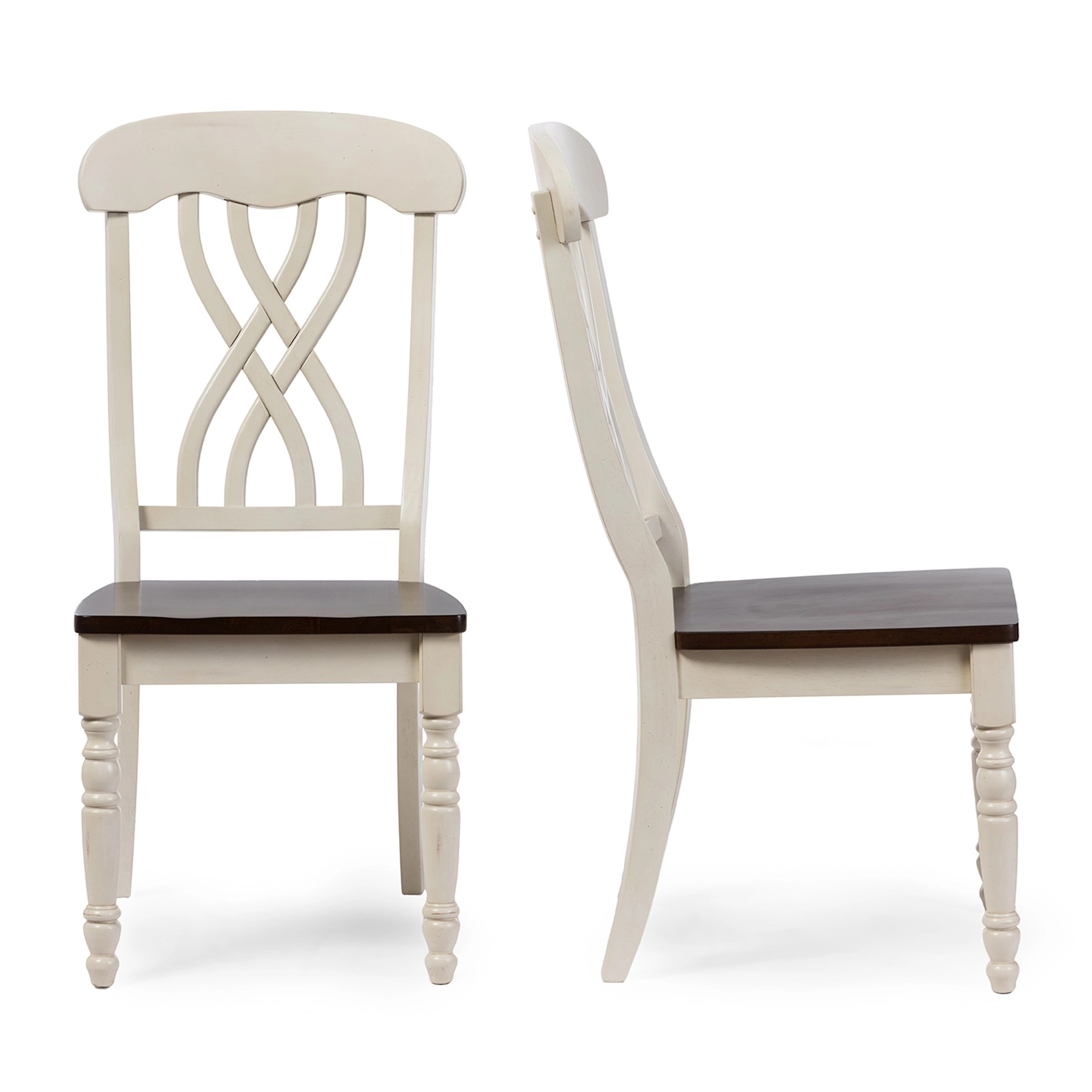 Distressed White Dining Chairs Baxton Studio Newman Chic Country Cottage Antique Oak Wood