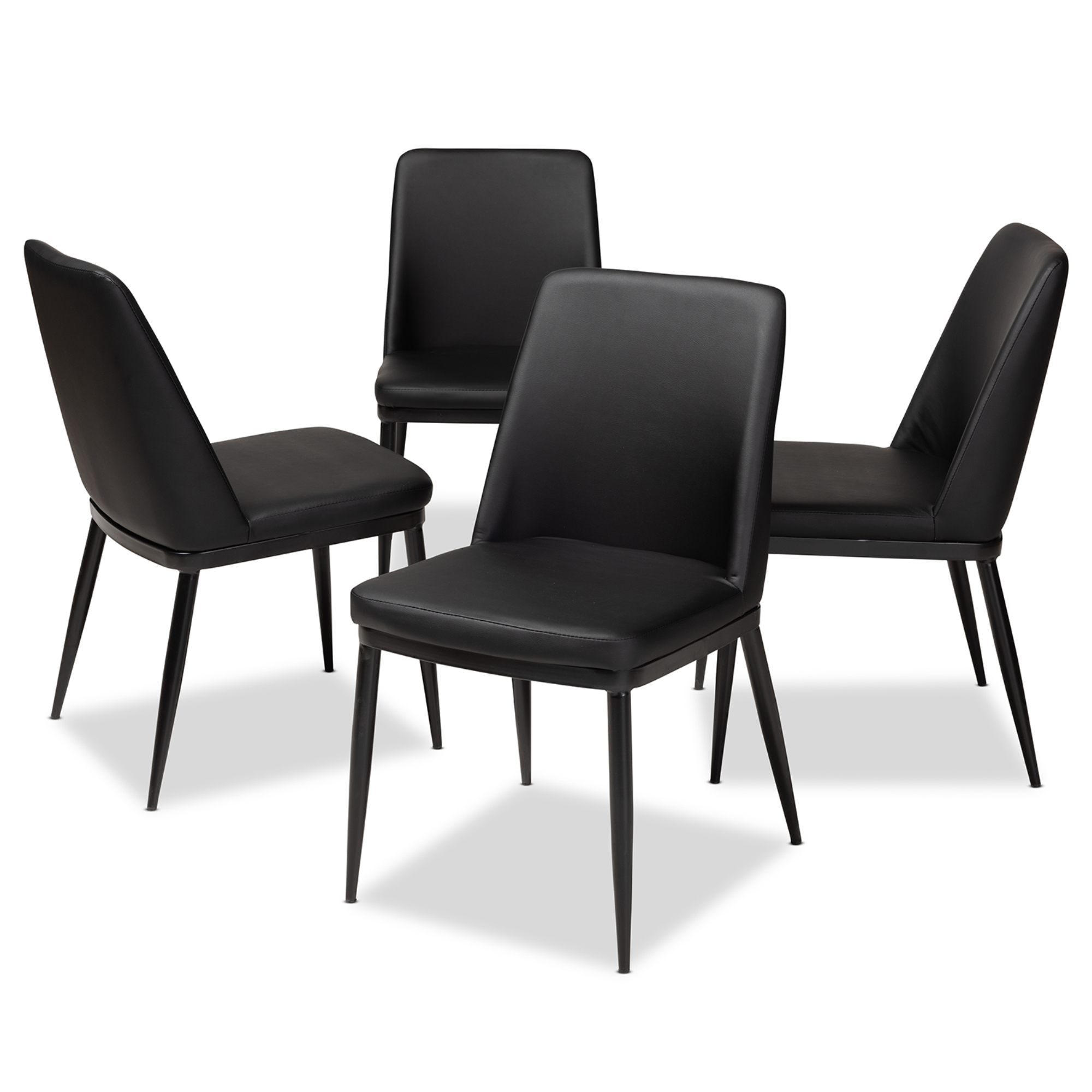 Baxton Chair Baxton Studio Darcell Modern And Contemporary Black Faux