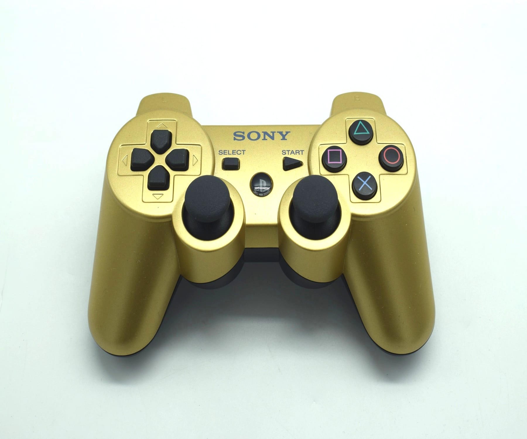 PS3 Official Dual Shock 3 Controller Gold Black | PS3 Controller | Baxtros