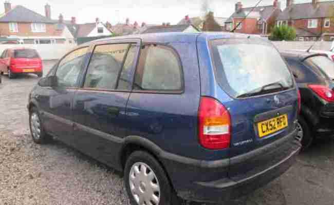 2002 Vauxhall Zafira 1 Club Blue 7 Seats Car For Sale