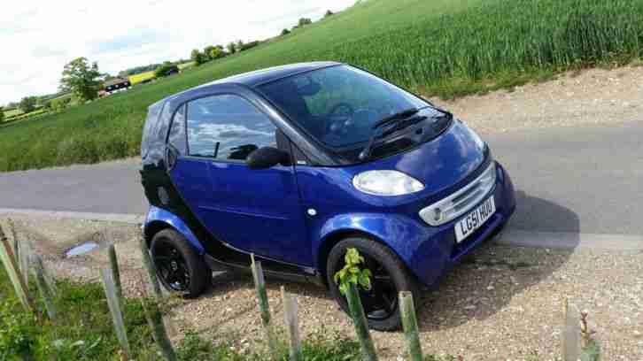 smart car 2001 blue
