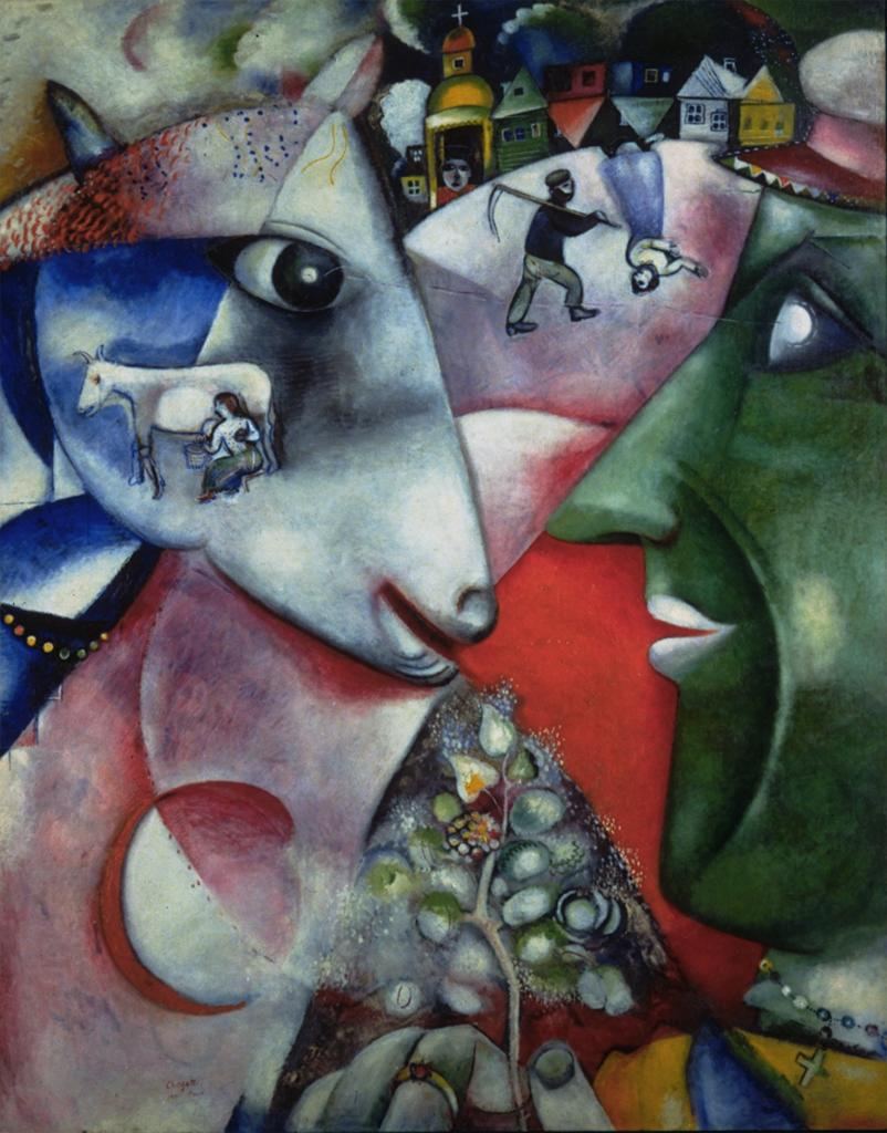 Marc Chagall - I and the Village (1911)