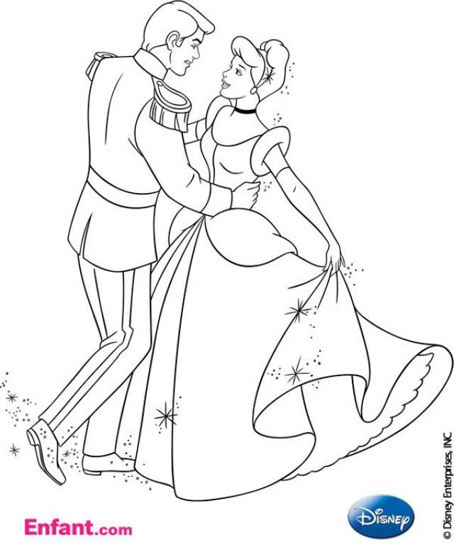 Coloriages Disney : Cendrillon