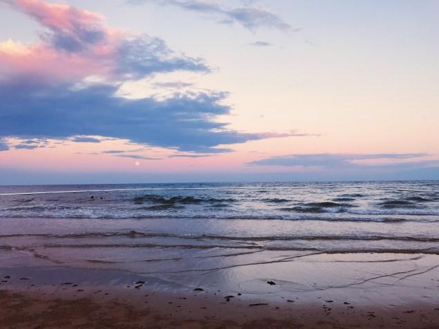 Port Douglas Beach Supermoon 2016 sunset