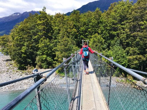 Blue Pools Walk Suspension Bridge New Zealand
