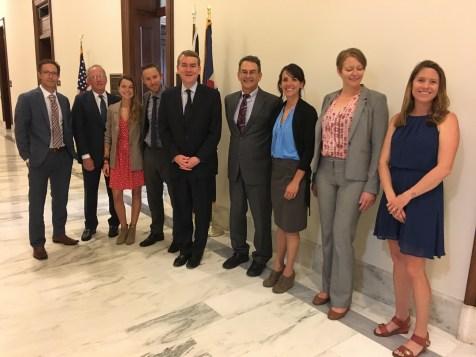 #ClimbtheHill delegation (Access Fund/AAC) meeting Senator Michael Bennet (D-CO) - @KatieBoue