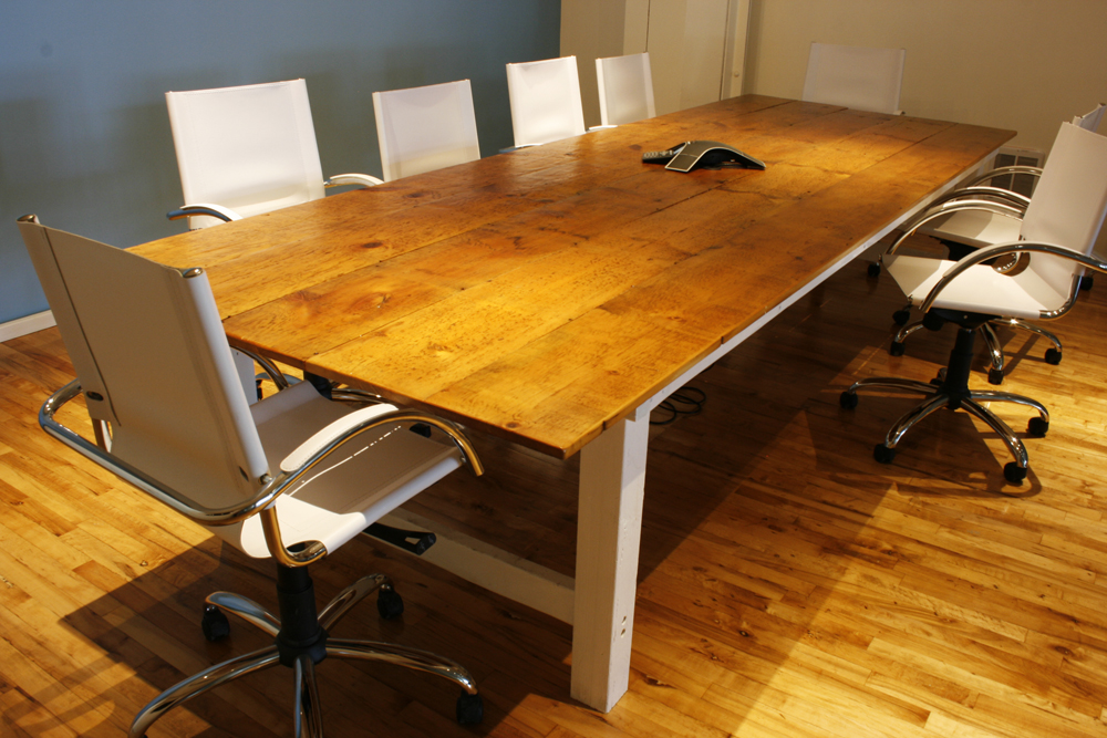 Reclaimed Farmhouse Conference Room Table  Bay Area