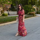 Spring Floral Maxi Dress