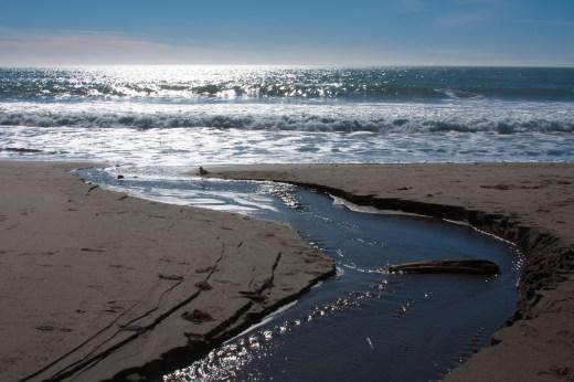 Falls runoff to ocean