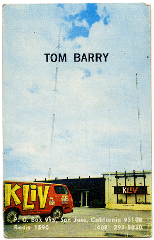 Tom Barry - KLIV Business Card
