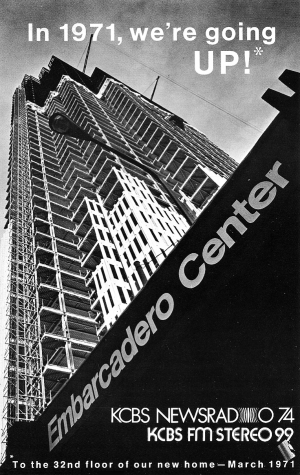 KCBS Embarcadero Center (1971 Photo)