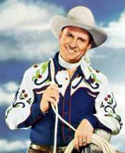 "Gene Autry in his heyday as America's favorite ""Singing Cowboy."""