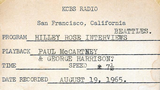 Beatles Tape Box Detail (Image)
