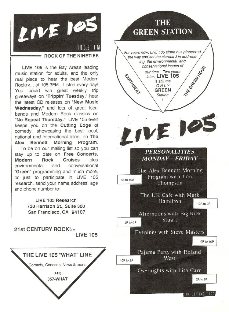 KITS Live 105 Playlist (Image)