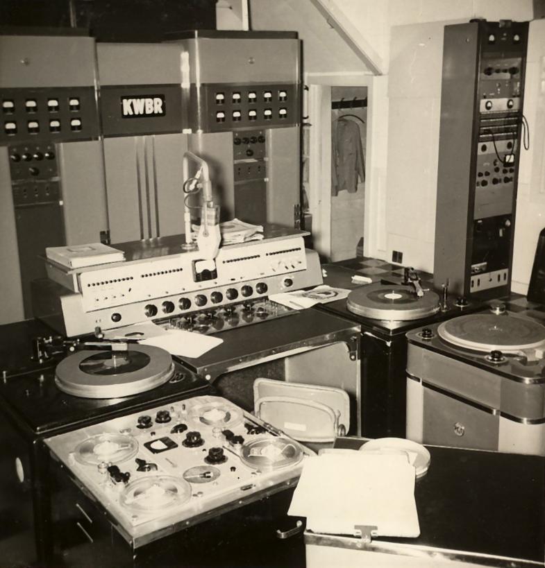 KWBR 1310 Studio (1953 Photo)