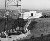KYA's new transmitter site on Candlestick Hill, 1937. (Click to enlarge)