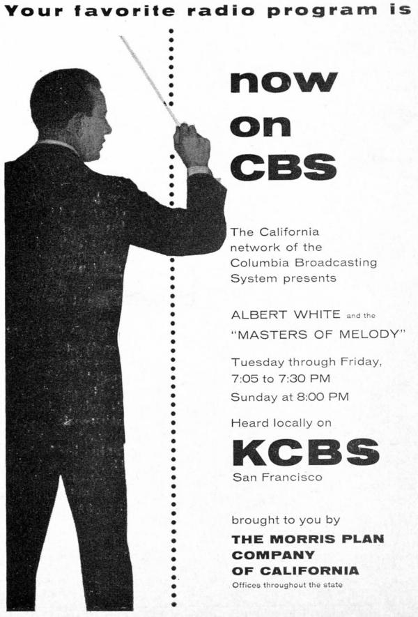 KCBS Masters of Melody Ad (Image)