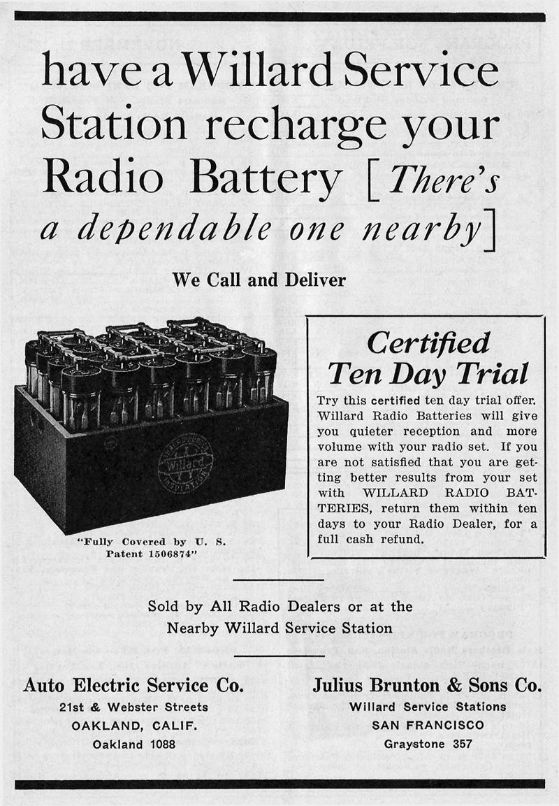 KJBS Willard Battery Ad (Image)