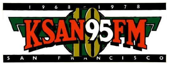 KSAN 95 10th Anniversary Sticker (Image)