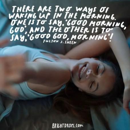 Funny Good Morning Quotes Image Fulton J. Sheen