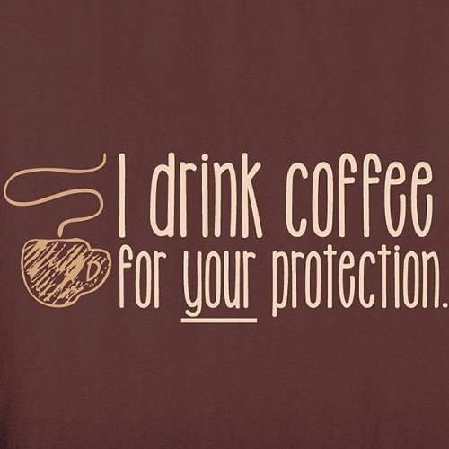 Funny Good Morning Quotes Image with Coffee