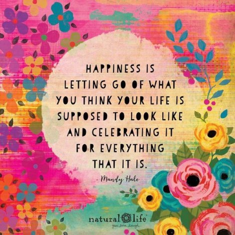 The Best Short Positive Quotes with Image happiess is letting go