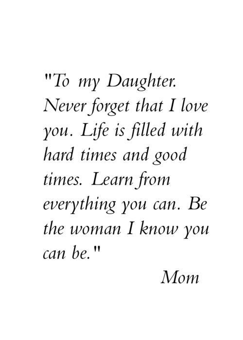Princess Diana; Mom Quotes From Daughter