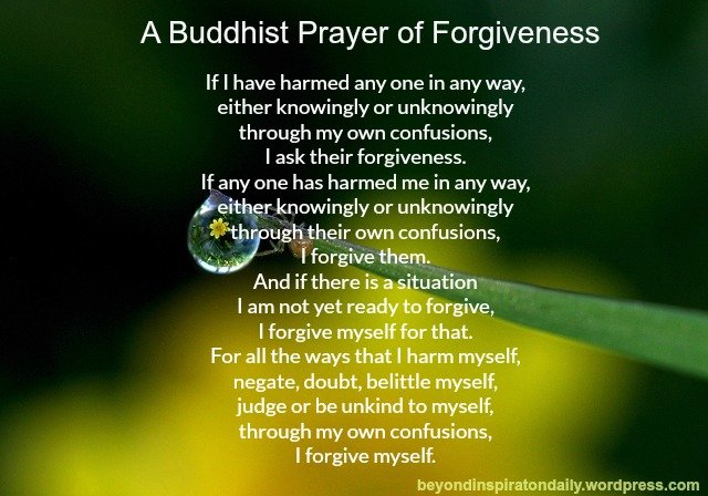 Buddhist Prayer of Forgiveness