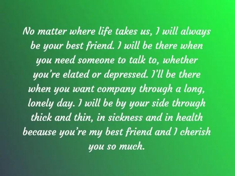 paragraph for best friend