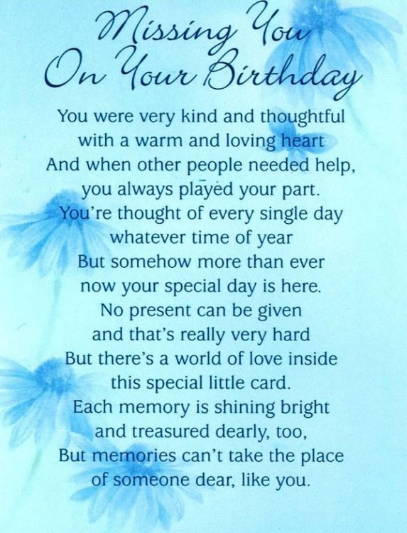 What Do Deceased Loved Ones Birthday
