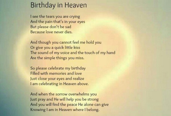 172 Profound Happy Birthday In Heaven Quotes Images Bayart