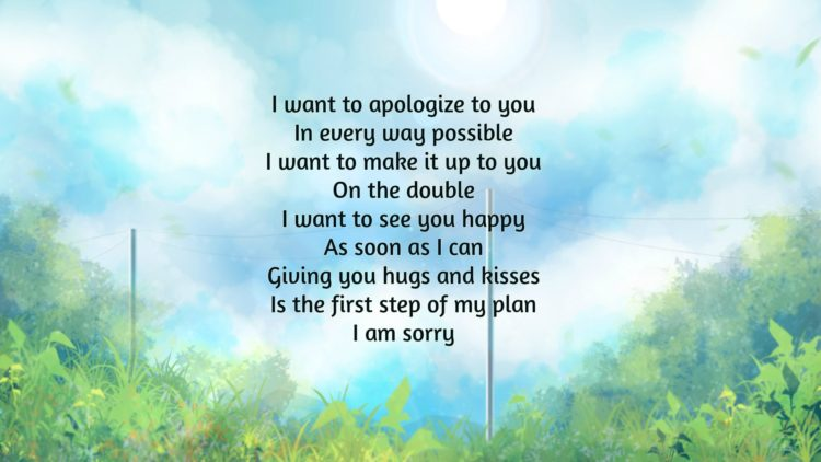 18 Thoughtfully Im Sorry Poems To Sincerely Apology Bayart