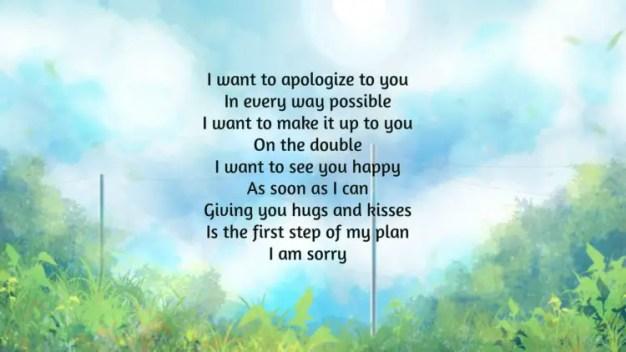 i m sorry poems