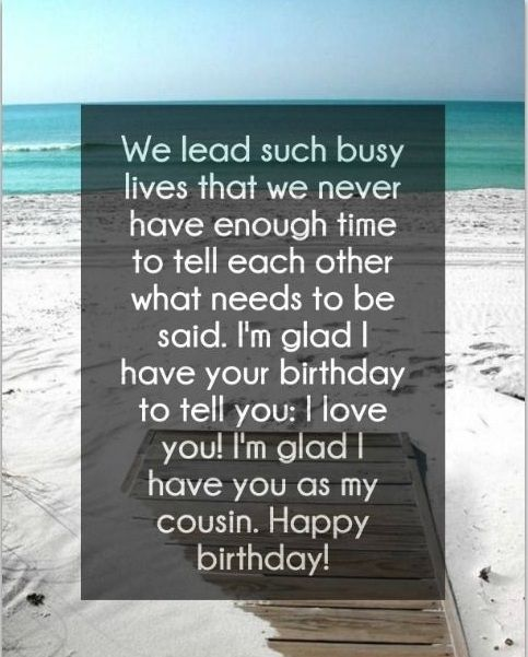 170 Amazing Happy Birthday Cousin Quotes With Images Bayart