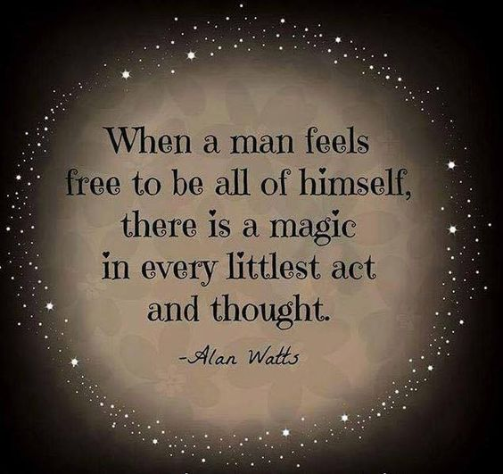alan watts quotes about freedom and magic