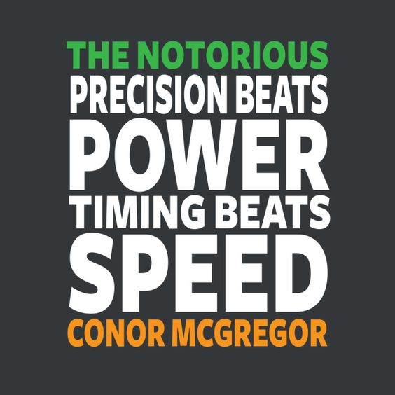 conor mcgregor quotes timing beats speed