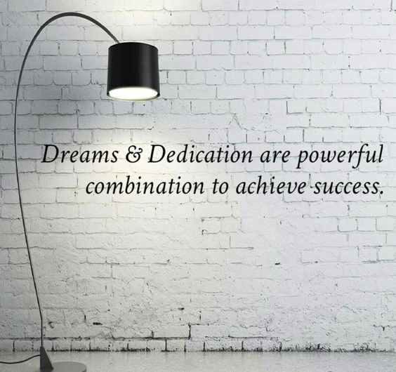 dedication quotes about dream