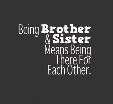 brother and sister relationship quotes with images
