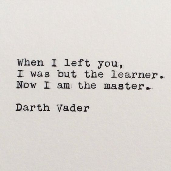 darth vader inspirational quotes