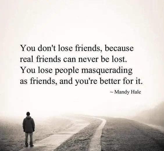 losing a friend sayings