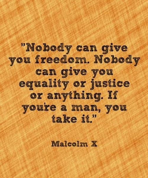malcolm x quotes on life