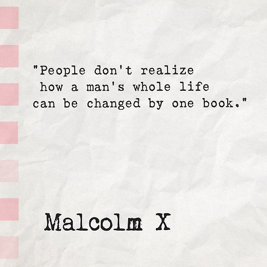 malcolm x sayings about books