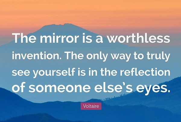 voltaire quotes on mirror