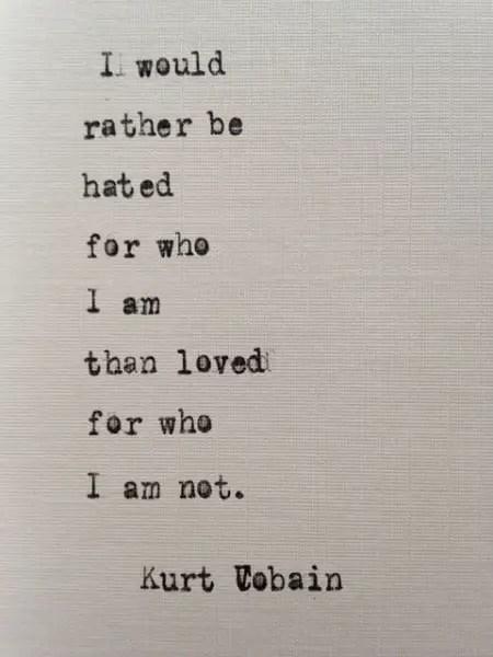 kurt cobain inspirational quotes
