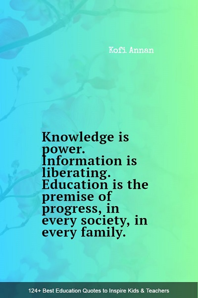 inspirational quotes and sayings about education