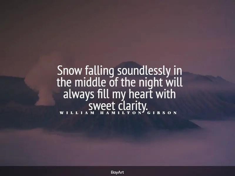 best snow quotes
