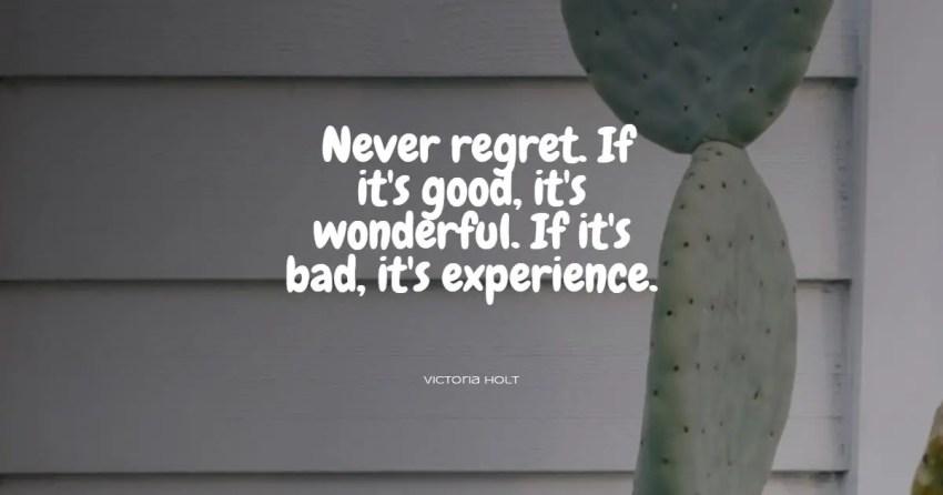 no regrets quotes