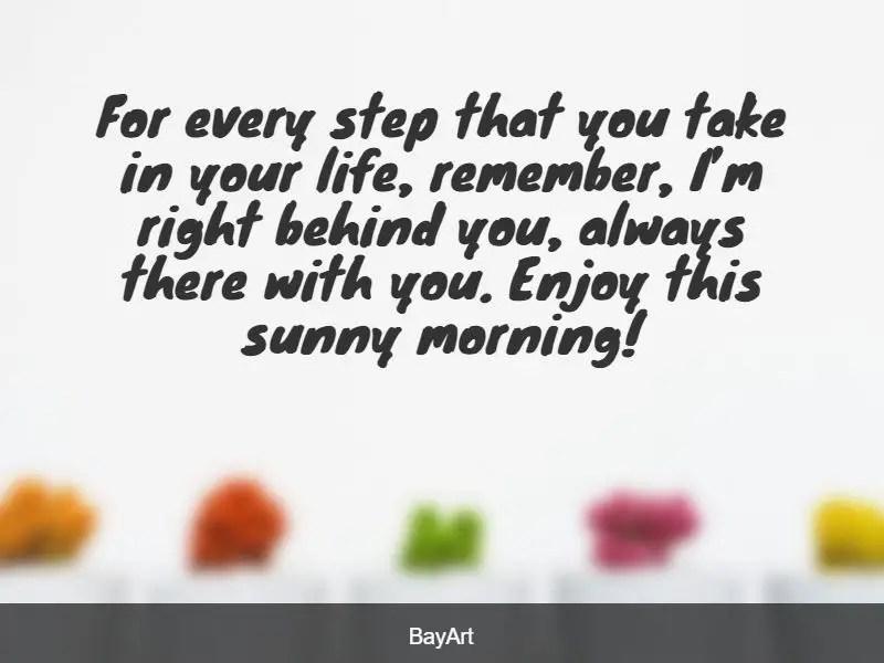 good morning for him